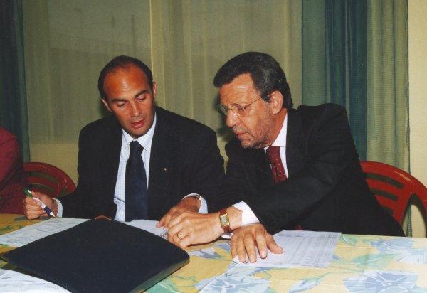Circolo Tennis Maglie da sinistra il direttore sportivo Antonio Baglivo e il presidente Carlo De Iaco