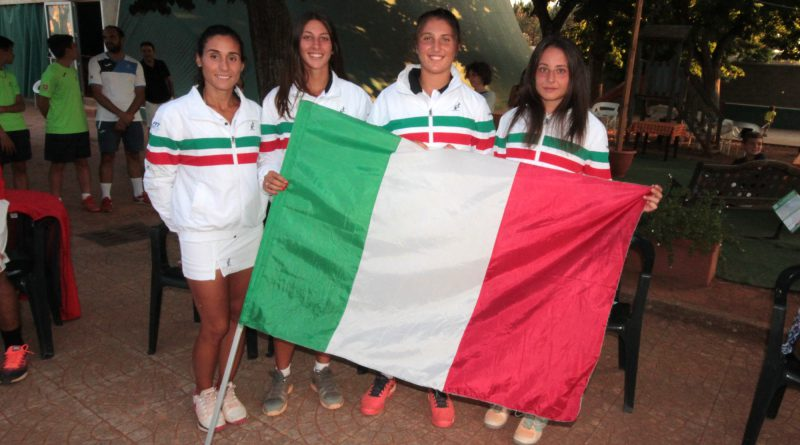 Reina Soisbault Cup 2018 - CT Maglie - Italian Team Elisabetta Cocciaretto, Martina Biagianti, Federica Rossi guidate dal capitano Giorgia Mortello.