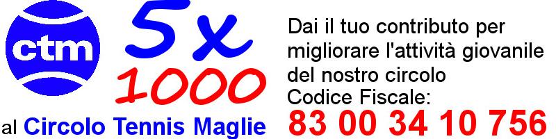 5x1000 Circolo Tennis Maglie 83003410756