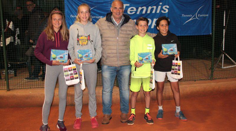 Vincitori e finalisti della edizione 2019: Francesca De Matteo (ITA) 1st, Louna Zoppas (FRA 2nd, Antonio Baglivo (tournament director) Alan Wazny (POL) 2nd, Reda Bennani (MOR) 1st